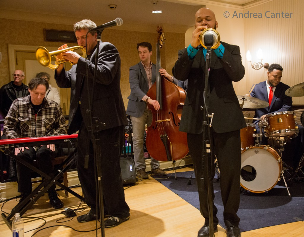 Solomon Parham With Steve Kenny at the Winter Jazz Festival, © Andrea Canter