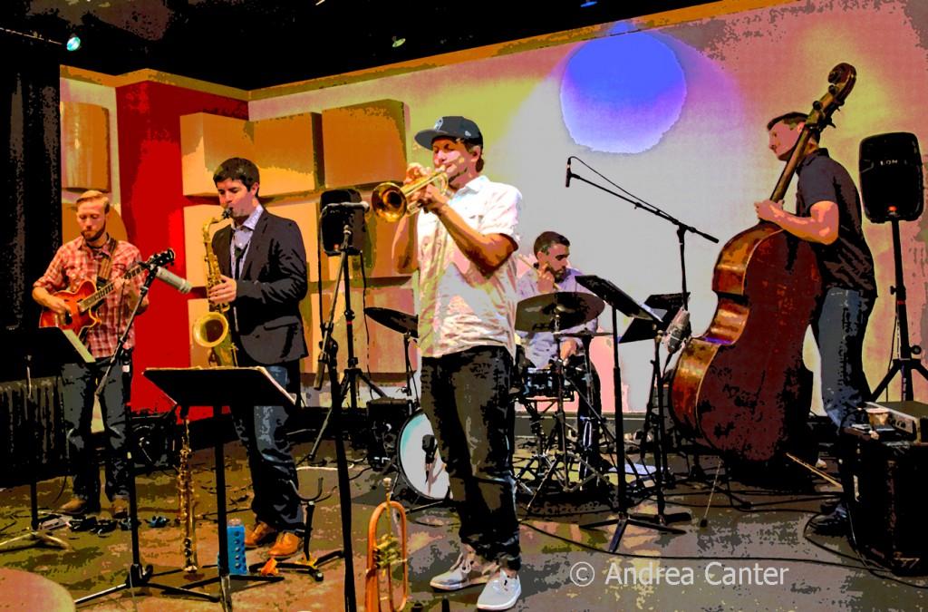 Adam Meckler Quintet, live recording session at Studio Z, © Andrea Canter