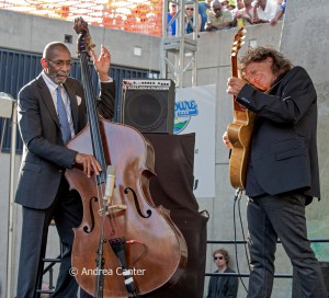 Ron Carter and Pat Metheny, © Andrea Canter
