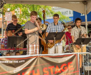 The Dakota Combo on the Iowa City Youth Stage, © Andrea Canter