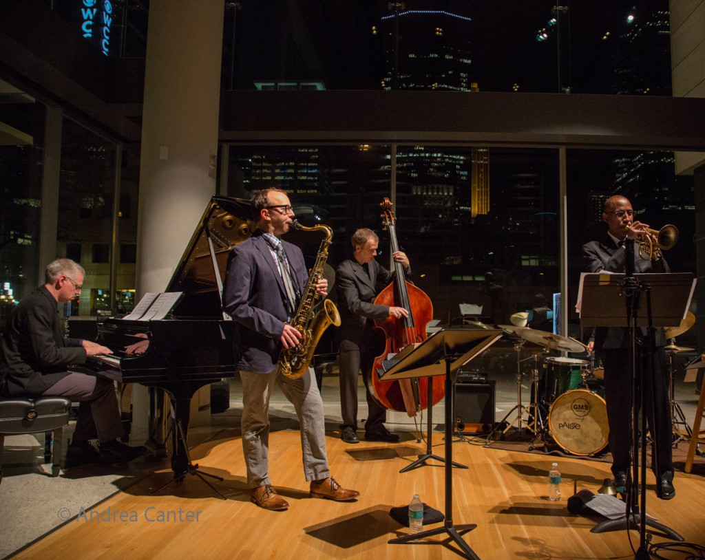 Atrium Jazz Ensemble (November 2015 with Ron Miles). © Andrea Canter