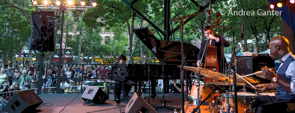 2016 Twin Cities Jazz Festival, the Joey Alexander Trio at Mears Park, © Andrea Canter