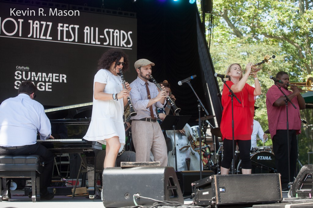 Bria Skonberg and the New York Hot Jazz Festival All-Stars, © Kevin R. Mason