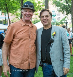 Mayor Coleman and Steve Heckler, © Andrea Canter