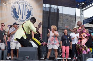 Angelique Kidjo and Newport Fans © Kevin R. Mason