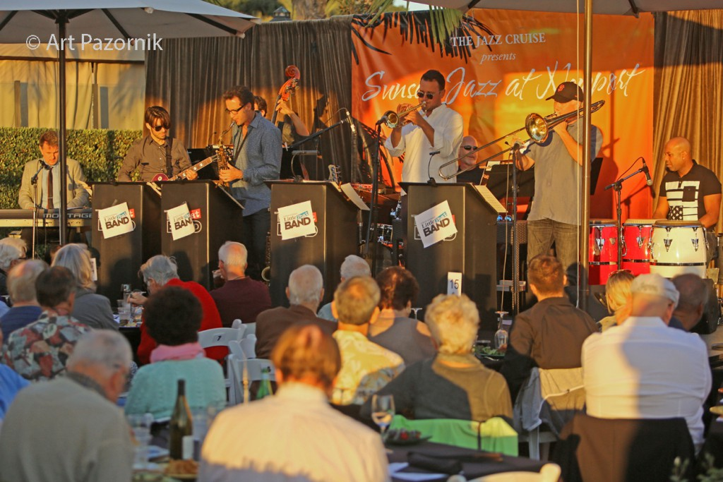 Gordon Goodwin's Little Phat Band at Sunset Jazz, Newport © Art Pazornik