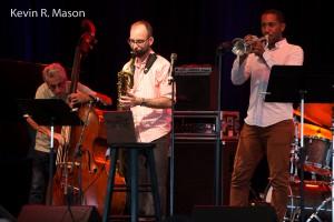 Mario Pavone, Andrew Hadro, and Nick Roseboro, © Kevin R. Mason