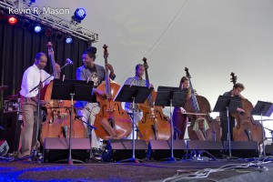 Avery Sharpe and the Bass Quartet © Kevin R. Mason
