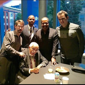 Monk Tribute artists (L-R, Fred Hersch, Barry Harris, Willie Jones III, Eric Reed, and Mark Garrola)