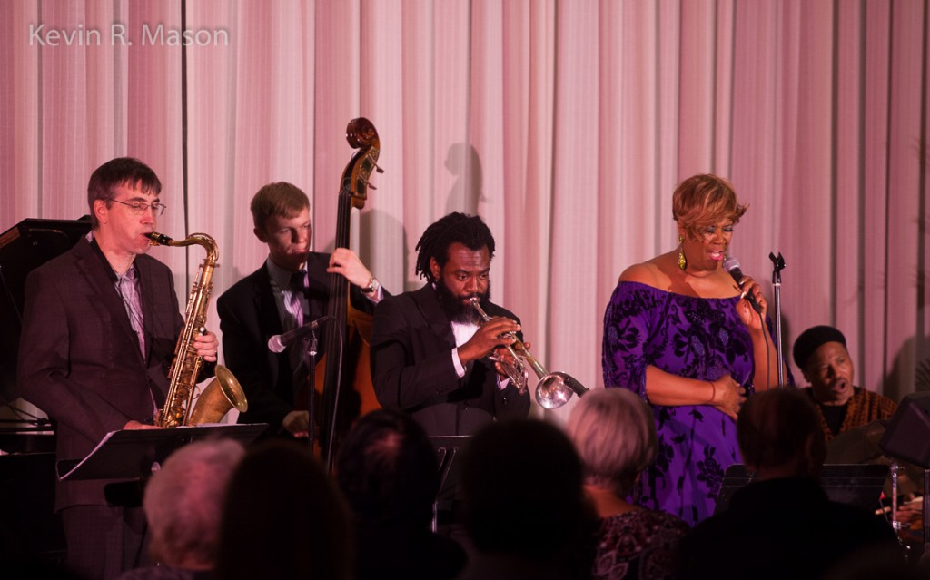 Denise Thimes with Winard Harper and Jeli Posse, © Kevin R. Mason