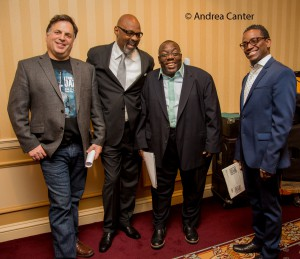 Steve Heckler (left) with the 2016 headliners, Cyrus Chestnut Trio © Andrea Canter