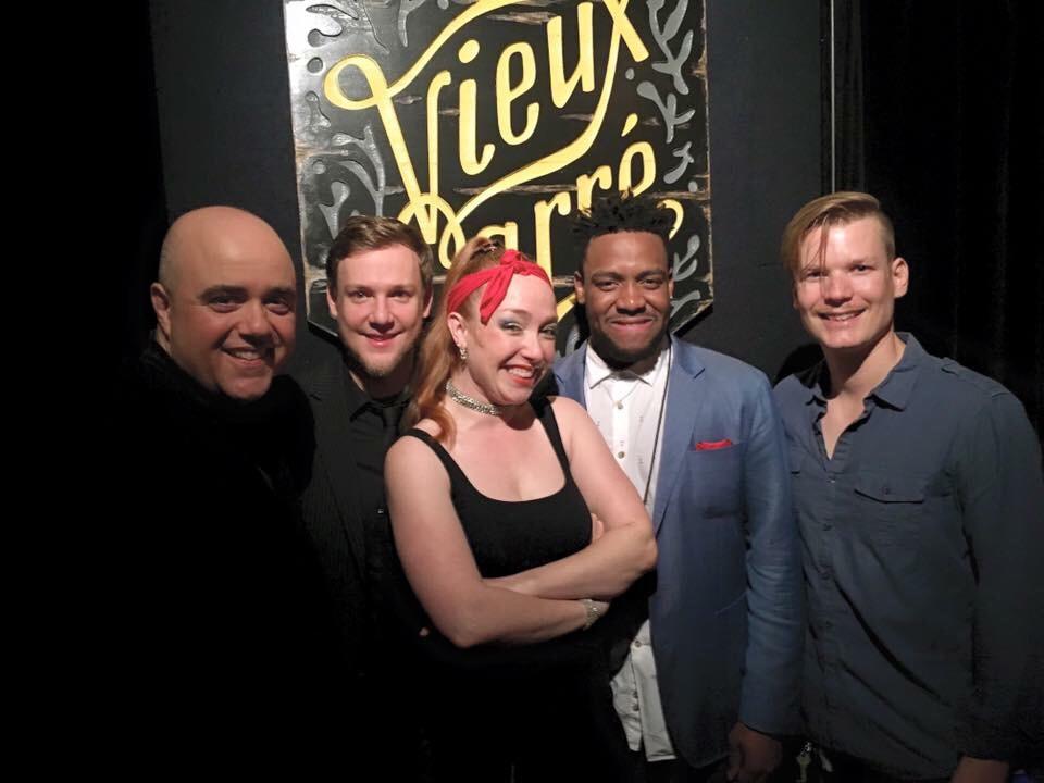 Jana Nyberg 5 left to right: Sean Turner, Adam Meckler, Jana Nyberg, Rodney Ruckus, Graydon Peterson