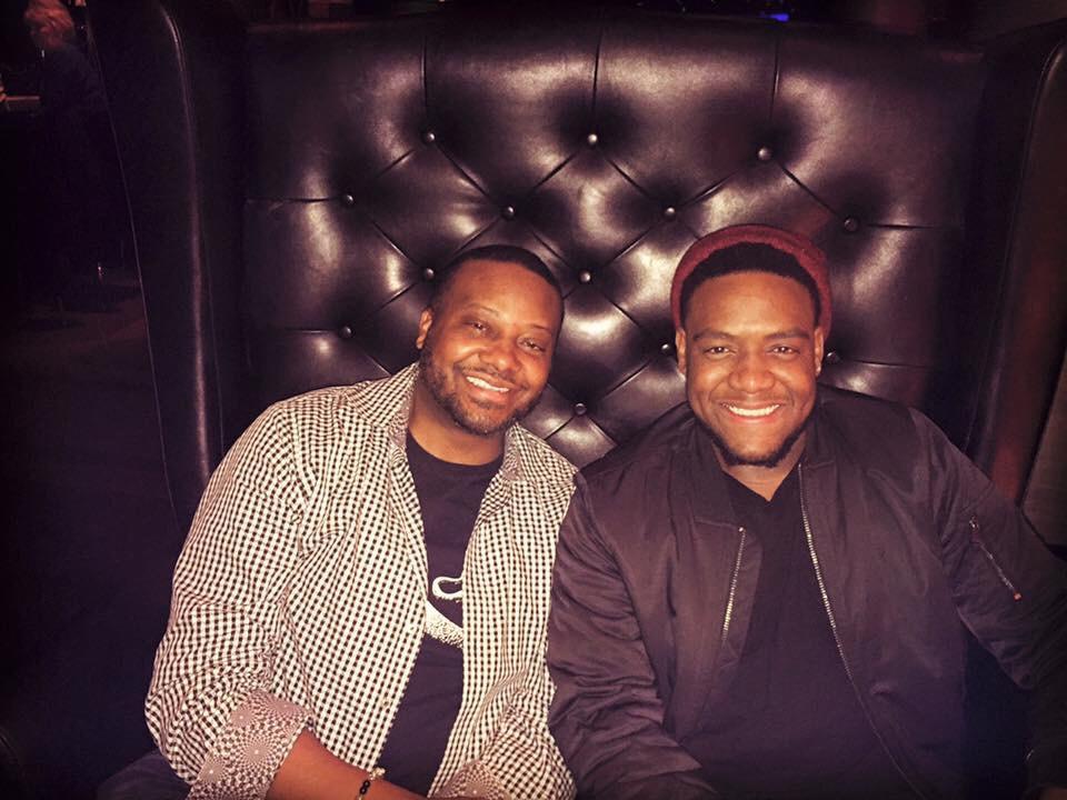 Rodney with trumpeter Sean Jones